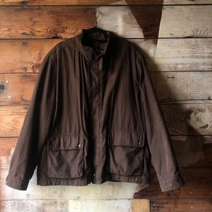 Columbia Faux Suede Brown Heavy Duty Bomber Jacket